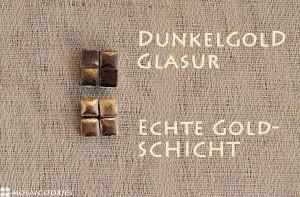 Schatztruhe - Keramik Steine aus Echte Goldschicht - Mosaic Stories
