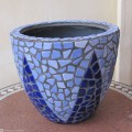 Plant Pot with Ceramic tiles