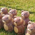 Baers made in ceramic mirco mosaic tiles, Baeren aus micro Keramik Steine