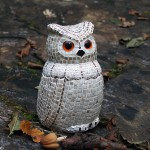Owl with ceramic tiles