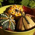 Herbst Kürbisse mit Mosaik