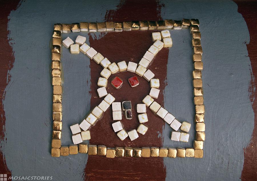 Pirarenmotiv - Keramiksteine mit echte Goldschicht