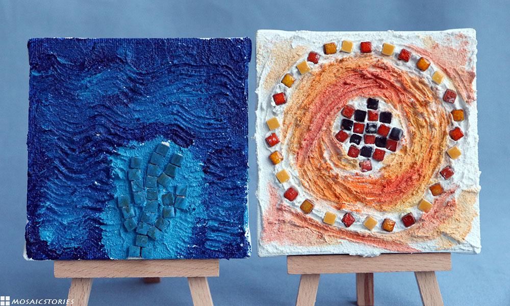 Keilrahmen mit Mosaik - Kinder Basteln Geschenke