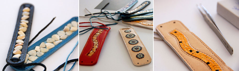 Armband mit Mosaik und Muscheln Alea Mosaik
