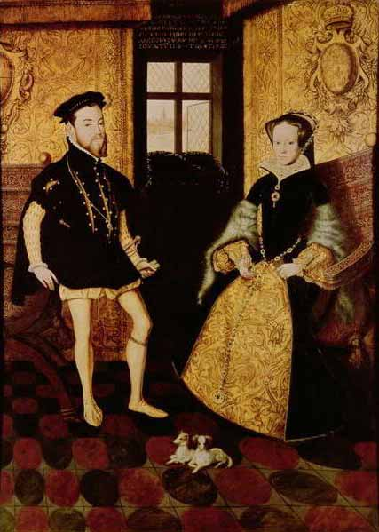 Portrait of Queen Mary I and King Philip of England by Hans Eworth (1558)