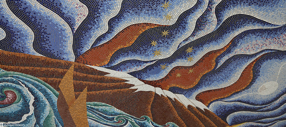 """Voyage of the Navigator,"" Mosaic  Hilo, Hawai'i"