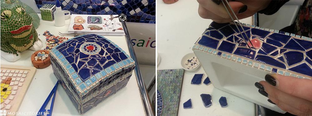 Schatztruhe aus Keramik - Alea Mosaik