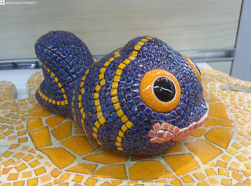3D Skulptur Fisch aus Keramik - Alea Mosaik