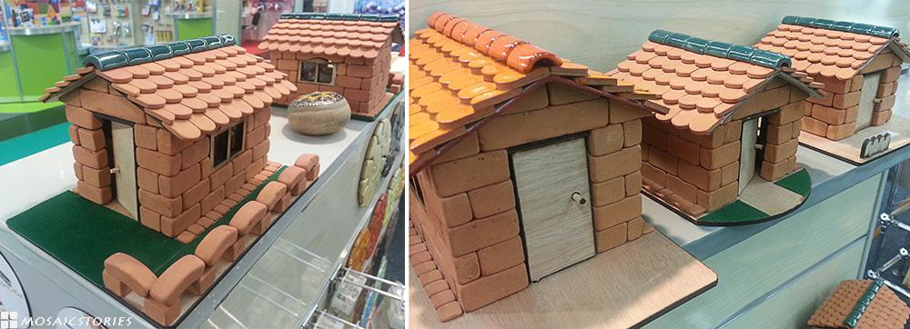 Haus aus Ton Ziegel - Alea Mosaik