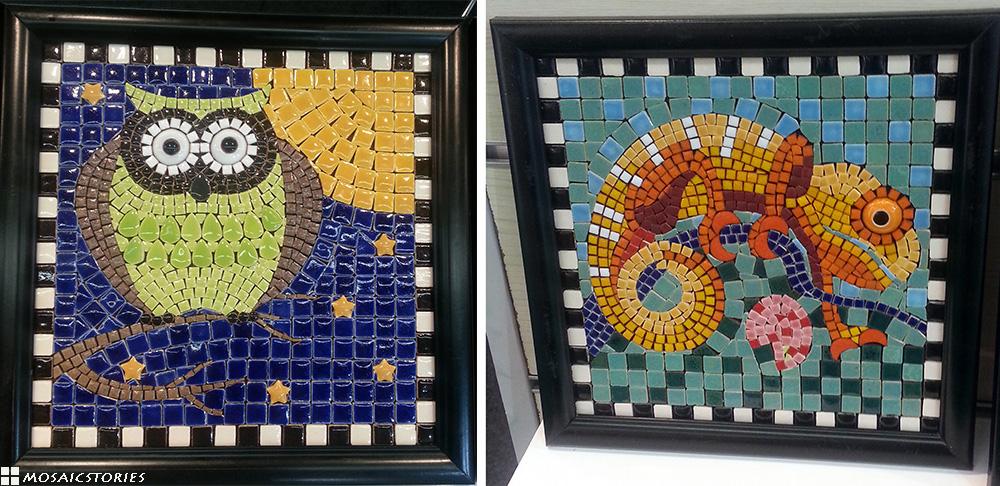 DIY Eule aus Keramik - Alea Mosaik