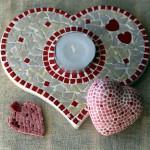 Ale aMosaik Valentinstag Herzen aus Mosaik