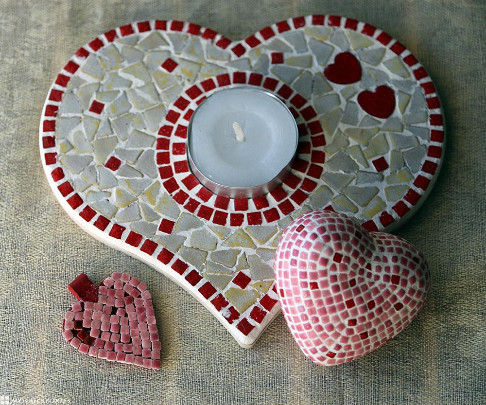 valentinstag kreativ nach herzenslust herzen aus mosaik. Black Bedroom Furniture Sets. Home Design Ideas