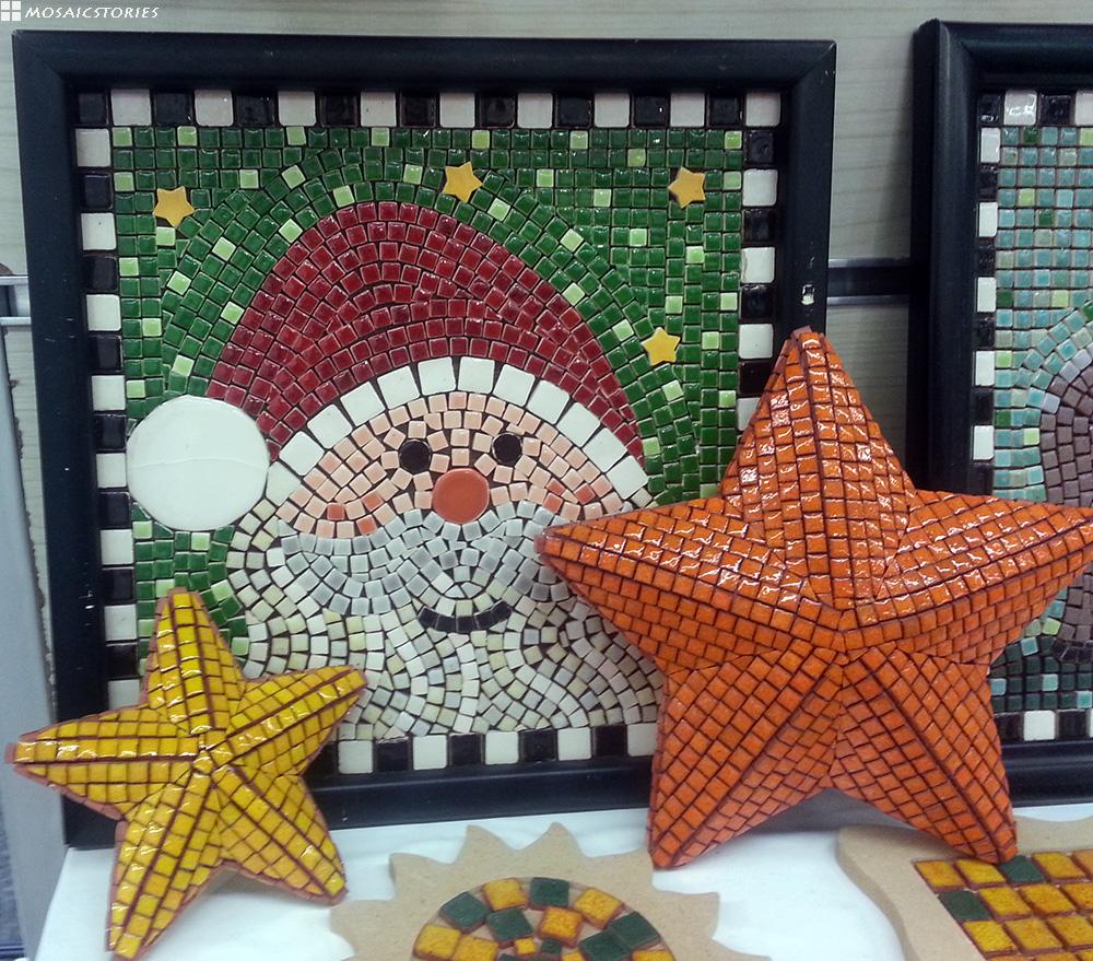 Weihnacht Dekoration aus Keramik - Alea Mosaik