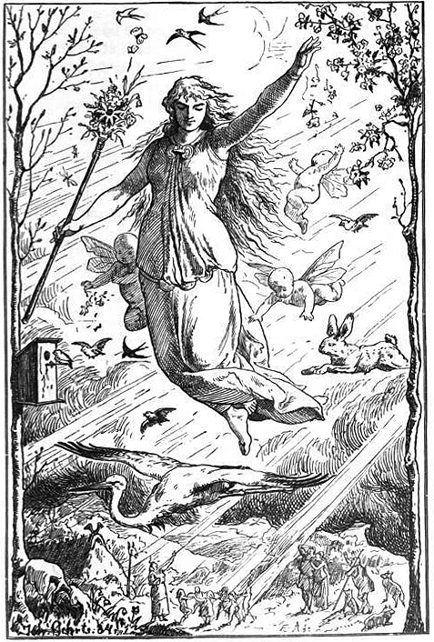 """Ostara"" (1901) by Johannes Gehrts. Source: Wikipedia"
