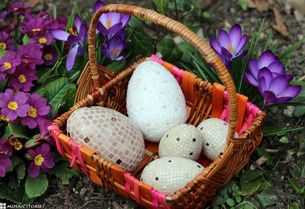 Ostereier im Kork - Alea Mosaik