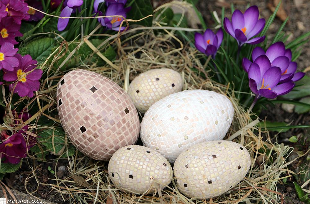 Ostereier aus Keramik Steinchen von Alea