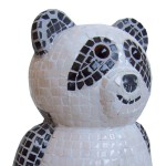 Panda Bear made of mosaic tiles