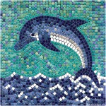 Dolphin with Ceramic micro tiles - Delfin aus Keramik mikro Steine
