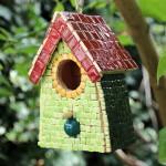 Alea Mosaik Vogelhaus aus Nano Keramik Steine