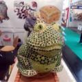 Alea Mosaic Spielwarenmesse 2014 Frosch aus Mosaik