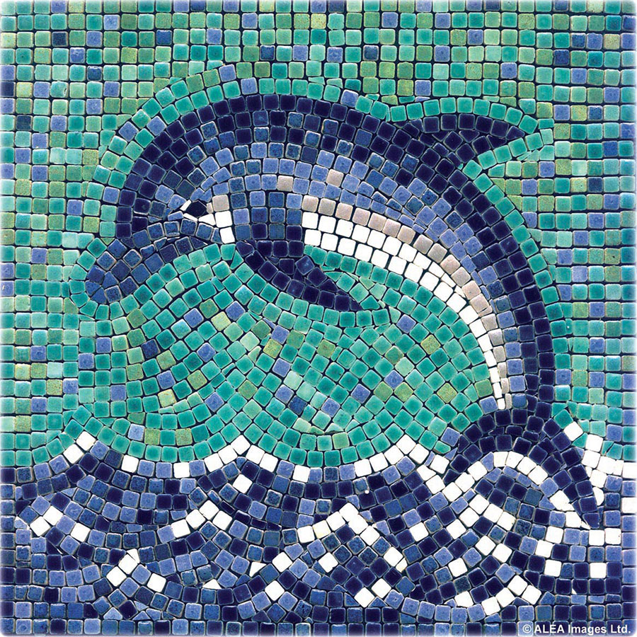 DIY dolphin with mosaic tiles
