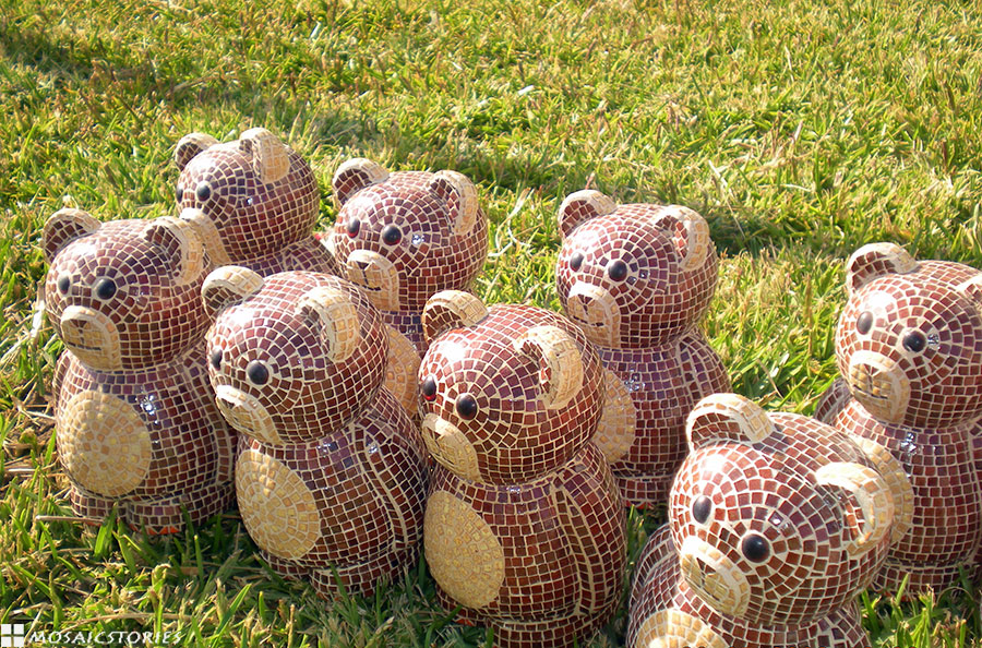 Bears made from Ceramic Tiles