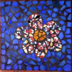 a bit Ceramic tile Flower Japanese Stepping Stone