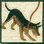 Alea Mosaik Dog in Ceramic tiles Cave Canem